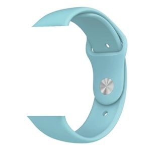 NEW Baby Blue Silicone Sport Band For Apple Watch